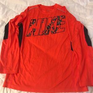 Nike dri-fit shirt kids size large